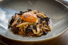 Mount-Haven-Restaurant-Wild-mushrooms-slow-cooked-duck-yolk-pasta-fresh-nettle-curds-dried-chicken-livers-and-broth-credit-Mike-Searle
